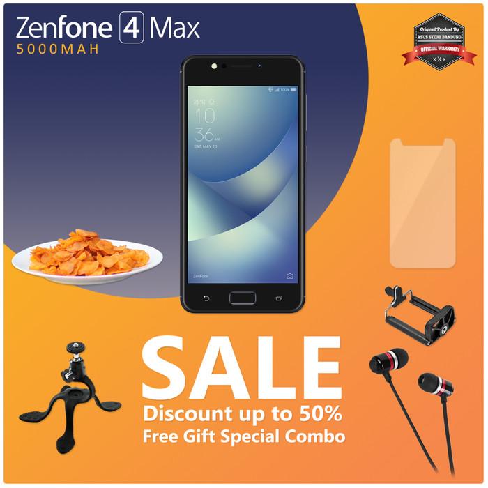 harga Asus zenfone 4 max zc520kl 4g 3/32 13mp + 5mp + 8mp free special gift Tokopedia.com