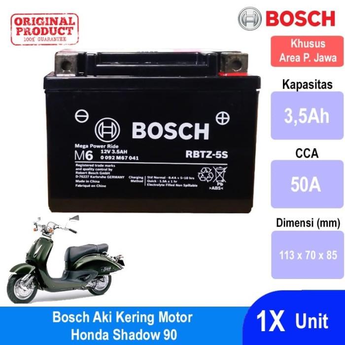 harga Bosch aki kering motor honda shadow 90 agm rbtz-5s - 0092m67041 Tokopedia.com