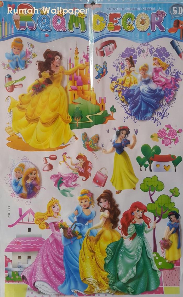 Stiker Dinding Wall Stickers Wallpaper 3D Princess 60x90