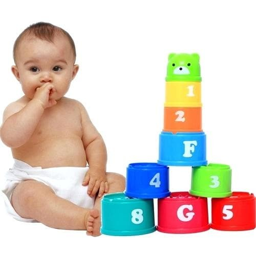 Foto Produk MAINAN EDUKASI BAYI SUSUN CANGKIR / BABY STACKING CUP BABY TOWER PILE dari Bintaro Baby Shop