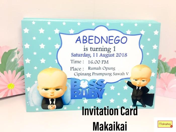 Foto Produk Kartu Undangan Invitation Birthday Anak Baby Boss dari The Kimchi
