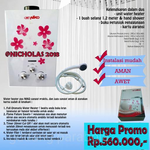 Katalog Water Heater Niko Travelbon.com
