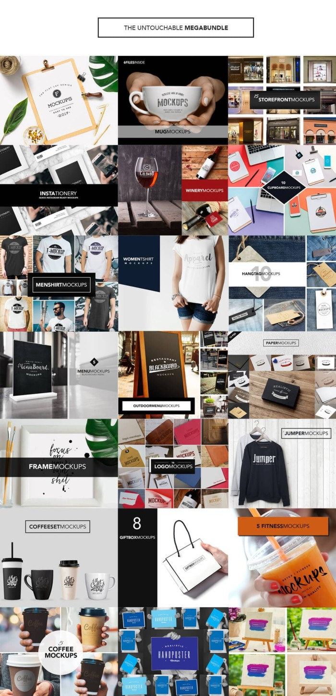 Jual DVD Desain 150 Mockup Resolusi Tinggi Format PSD Photoshop Kota Malang MAC WORLD