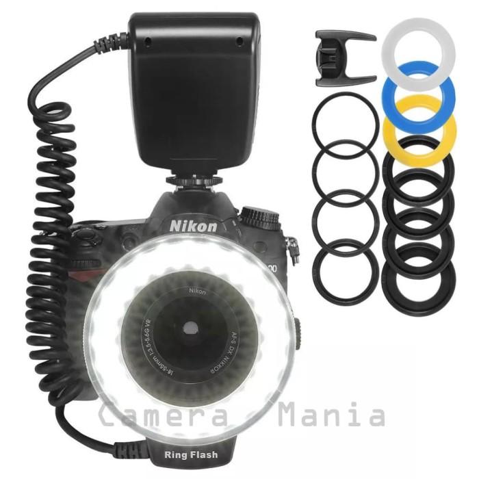 Hd-130 macro led ring flash light 48 led for dslr canon nikon sony