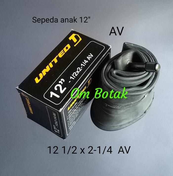 harga Ban dalam united 12 1/2 inch x 2 1/4 . sepeda anak. pentil schrader Tokopedia.com