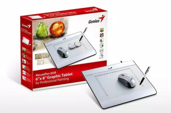harga Pen tablet genius mouse pen i608x with cordless mouse Tokopedia.com