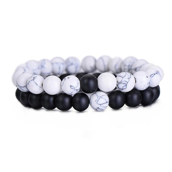 harga Gelang couple batu pirus putih dan black onix doff tampil serasi Tokopedia.com