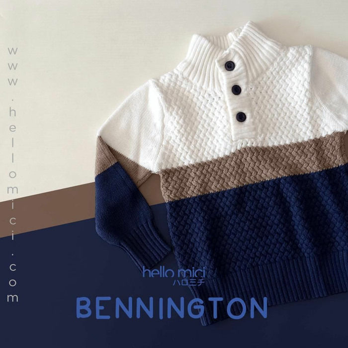 Foto Produk Sweater Rajut Anak Bennington dari Quni Baby Club