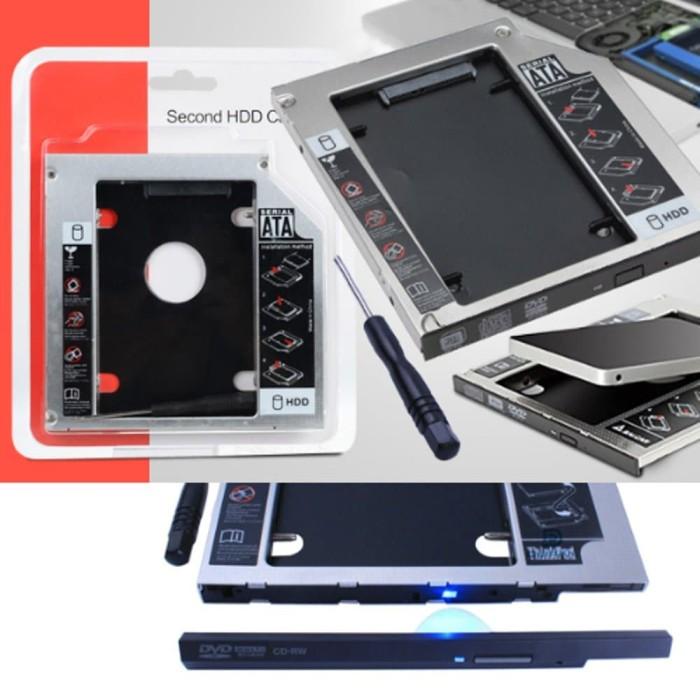 harga Hdd harddisk second caddy slim hardisk case 9.5mm ssd sata for laptop Tokopedia.com