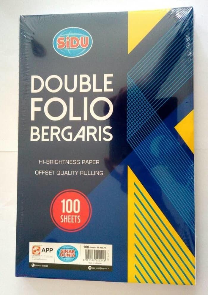 Foto Produk Sinar Dunia Kertas Double Folio Bergaris 100 Lbr SiDu / 32 x 42 cm dari Paper Shop Jkt