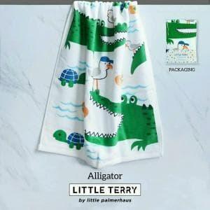 Little terry baby towel by little palmerhaus - alligator