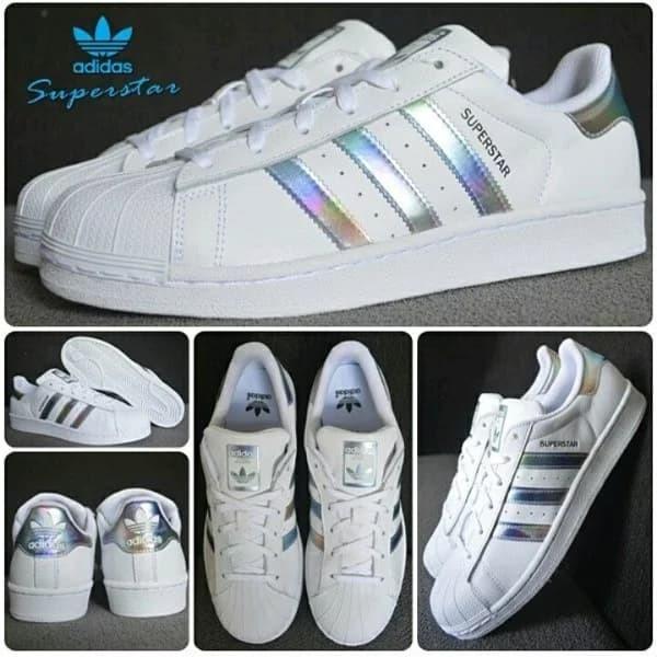 ccee7adedb7 Jual Sepatu Adidas SUPERSTAR J Hologram White Original Bnib Sneakers Casual  - Putih, 38 - DKI Jakarta - GOsepatuori | Tokopedia