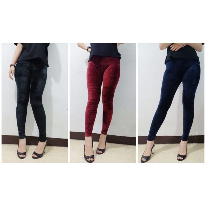 Jual Ar Celana Legging Bludru Polos Jakarta Pusat Artemis Fashion Shop Tokopedia