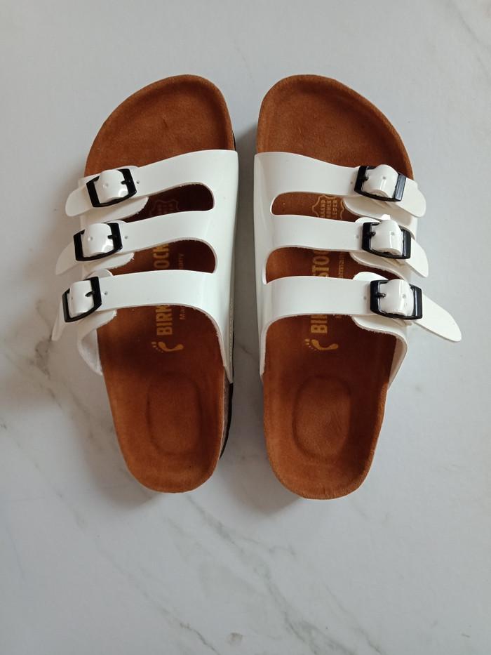 harga Sandal birkenstock wanita florida putih premium Tokopedia.com