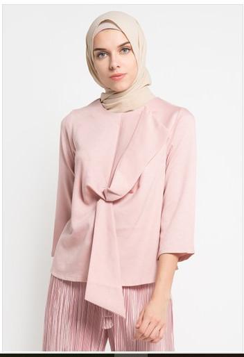 Belcorpo pakaian muslim wanita zhafira top - pink - merah muda m