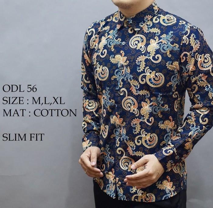 harga Kemeja batik slim fit / batik pria slimfit / koko shirt blouse odl17 Tokopedia.com