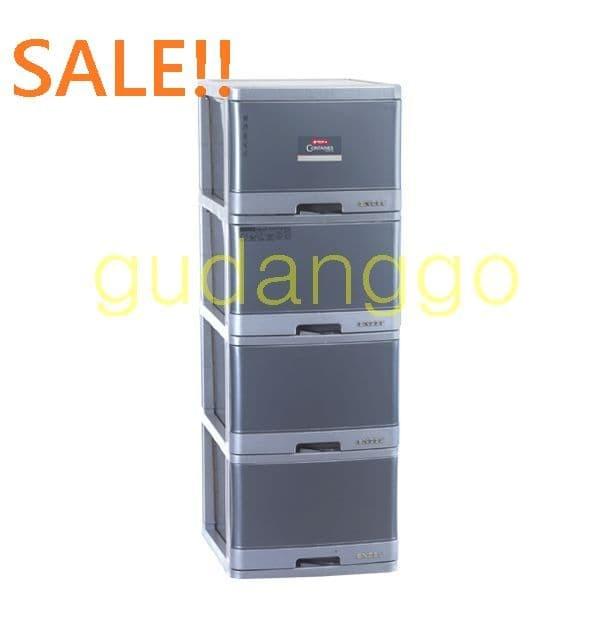 harga Sale!! excel container l4 xc-12 lion star lemari laci plastik susun 4 Tokopedia.com