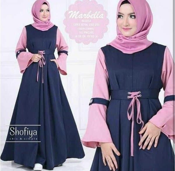 Baju dress ibu hamil dress menyusui murah cantik muslimah Marbella 1