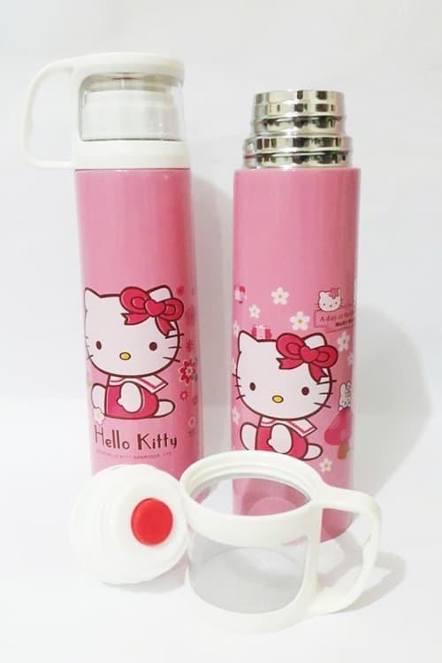 Foto Produk Termos Karakter + Tutup Gelas / Botol Stainless 500ml - Hello Kitty dari Maxi Larish
