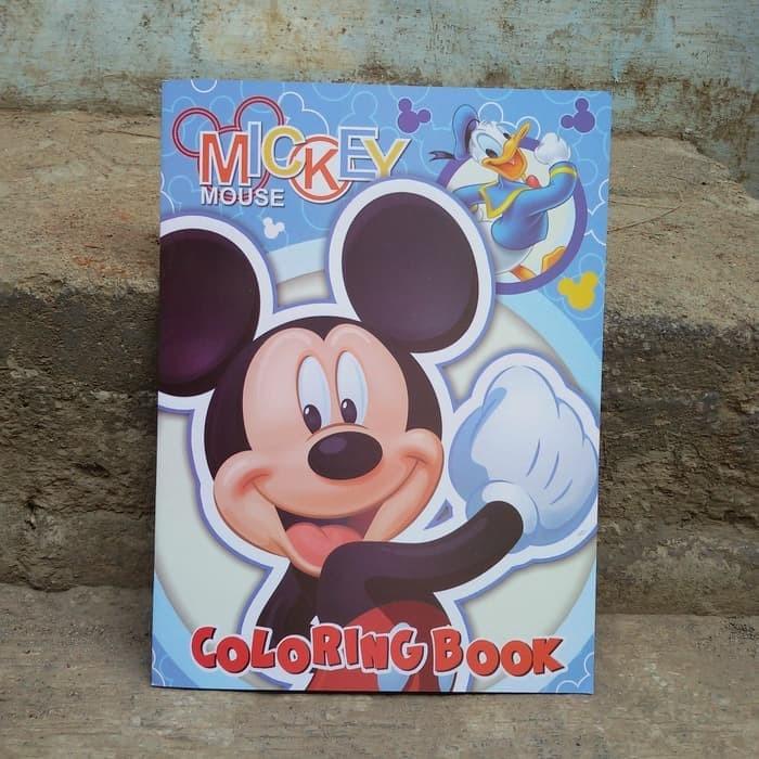 Jual Buku Buku Keterampilan Anak Mewarnai Mickey Mouse Stiker