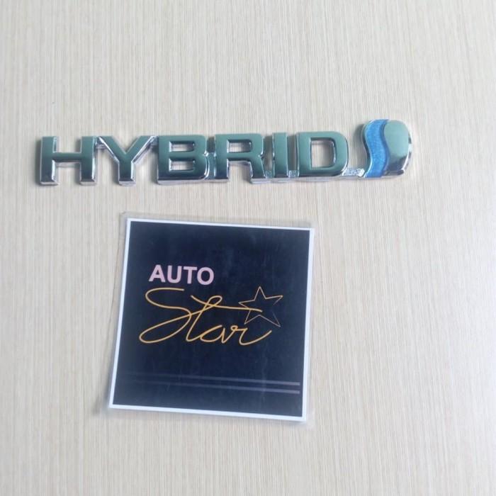 Emblem Tulisan Logo Hybrid Chrome murah