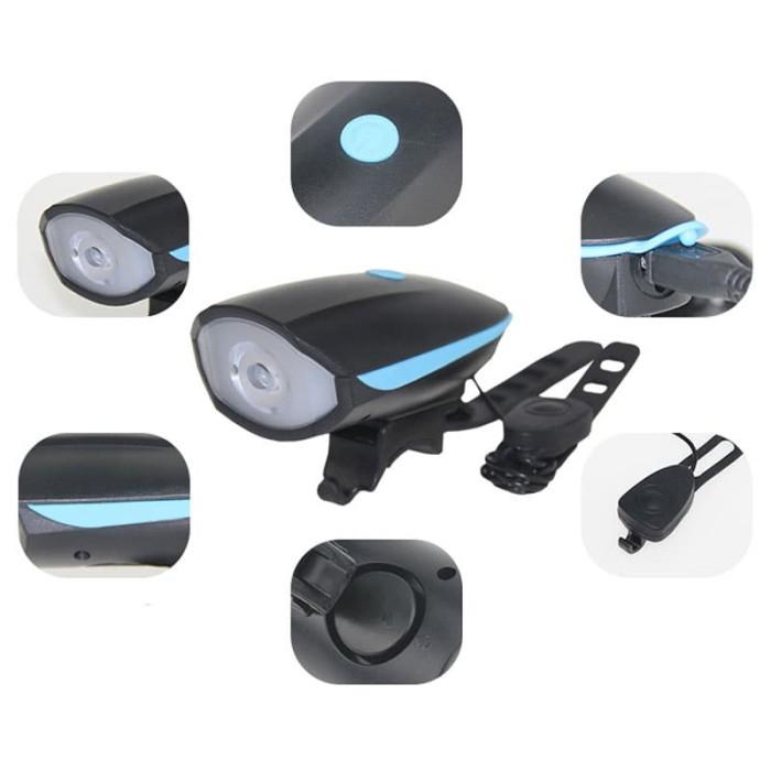 harga Lampu sepeda led cree xpg dengan klakson Tokopedia.com