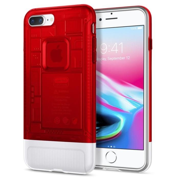 harga Spigen iphone 7 plus / 8 plus case classic c1- ruby ( red) original Tokopedia.com