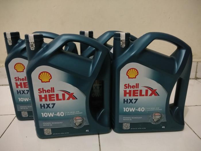 Oli Shell Helix HX7 Original 4 Liter