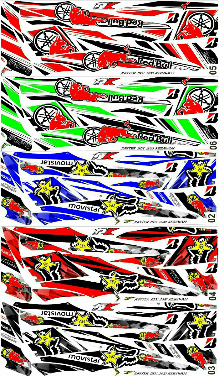 Sticker striping variasi racing jupiter mx 135 old jupiter mx lama
