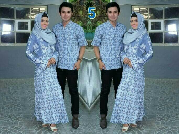 Jual Baju pasangan batik couple sarimbit muslim seragam pesta hijab ... 7ebccc91f2