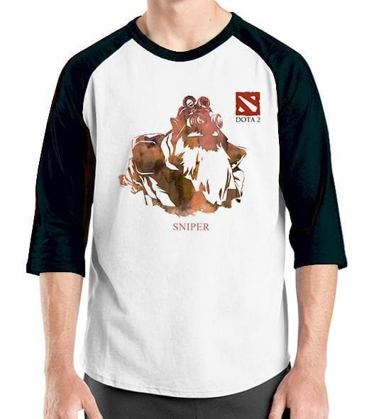 Raglan Game Dota 24 - Baju Kaos Gamers Oblong Distro Ordinal