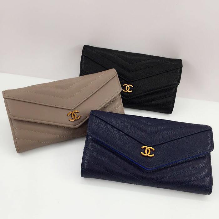 780c0f7fc7a184 Jual Chanel Envelope Wallet #1838CNL Dompet Fashion Import - Hitam ...