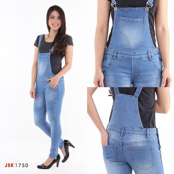 Jual Celana Jumsuit Overall Wearpark Kodok Panjang Jsk Jeans Biru