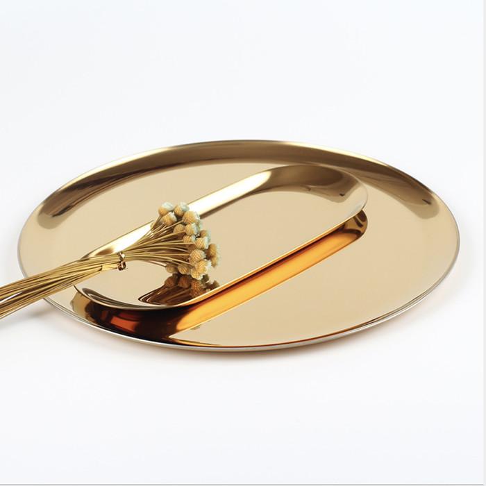 Foto Produk Gold plate platter Tray - OVAL KECIL dari woo.jia