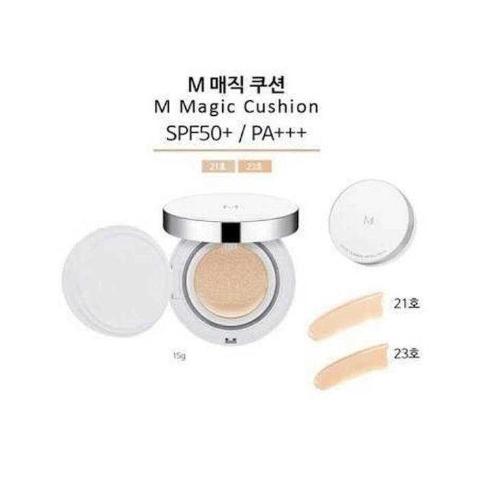 Missha M Magic Cushion Spf50+ Pa+++ No. 23 Set (+ Refill + Extra Puff) - 23naturalbeige - Blanja.com