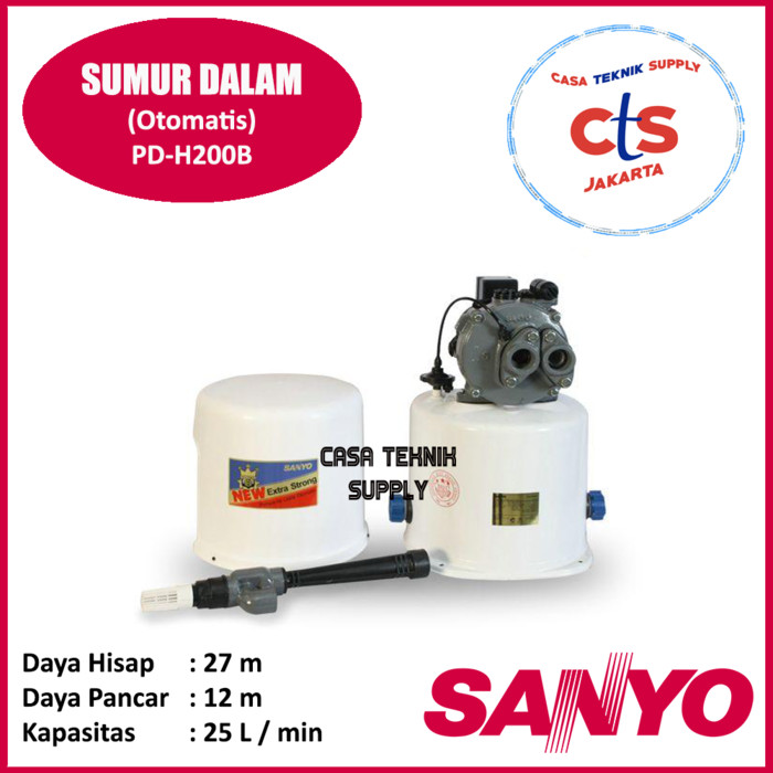 Pompa Air Sumur Dalam Sanyo PD-H200B (Deep Well Pump)