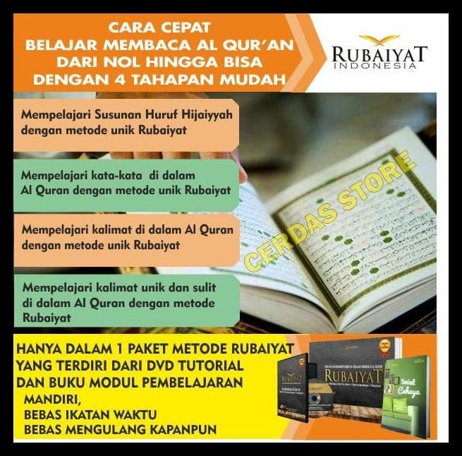 Super Promo Rubaiyat, Metode Belajar Membaca Al Quran Secara Mandiri