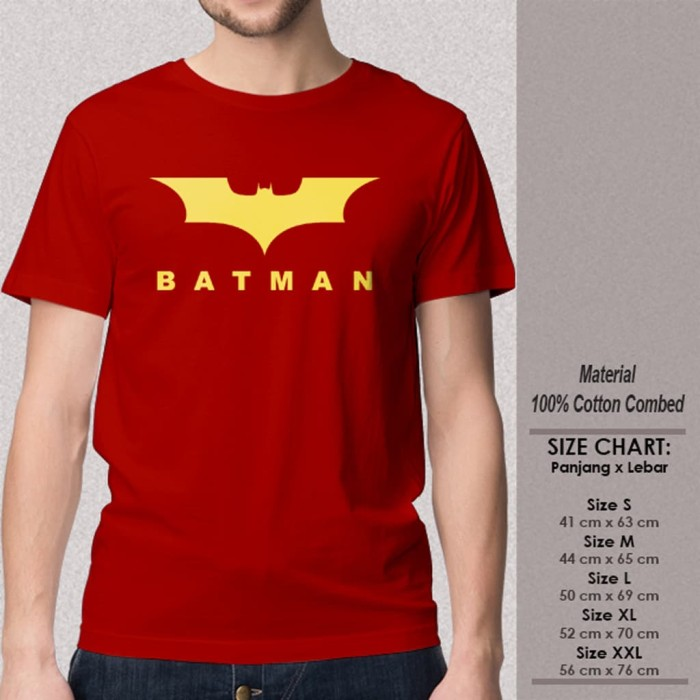 HOT DEAL KAOS SUPERHERO baju distro CUTTING BATMAN THE DARK NIGHT RED