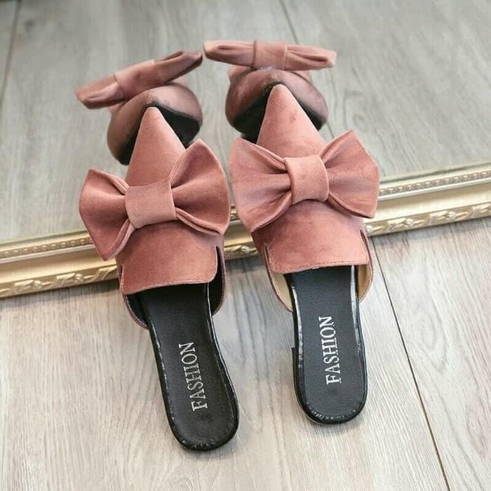 Sandal wanita flat shoes pita balet ivanov hitam salem hijau 5