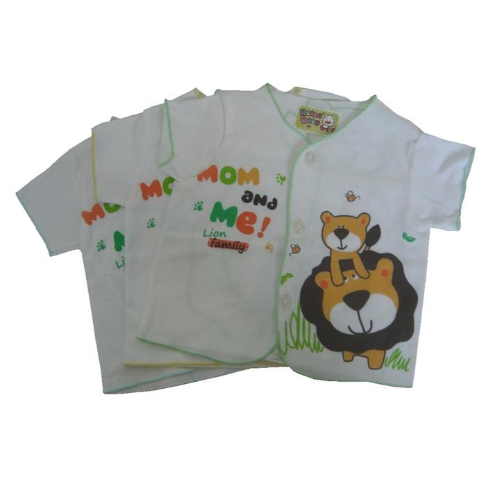 3 Pcs Atasan Baju Lengan Pendek Lucu Bayi Baru Lahir ( New Born )