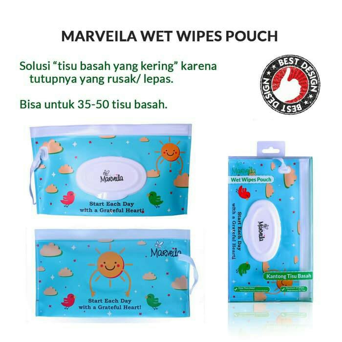 Marveila wet wipes pouch tempat tissue basah