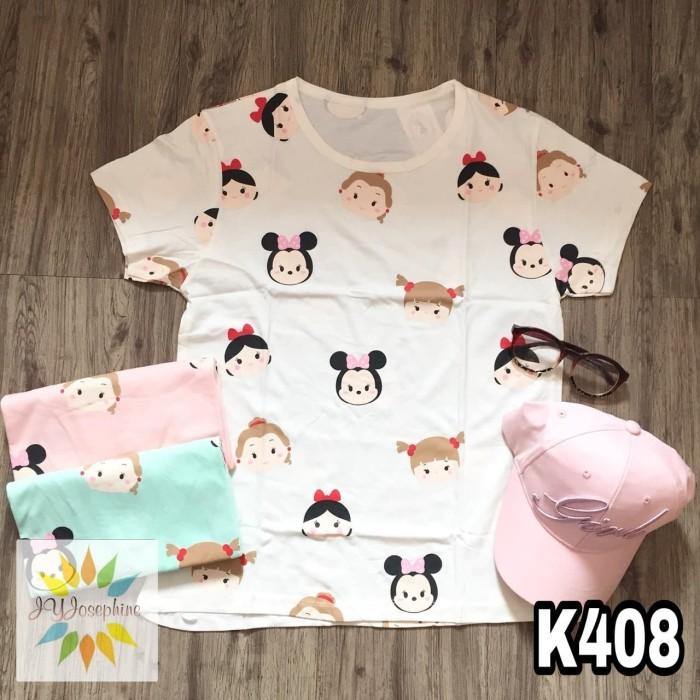 ... Tshirt Cewe Cotton Combad / Kaos Oblong Perempuan Spesifikasi Lengkap. Source · K408 - Kaos / Tumblr Tee / T-Shirt Wanita / Cewek Tsum Tsum Minnie