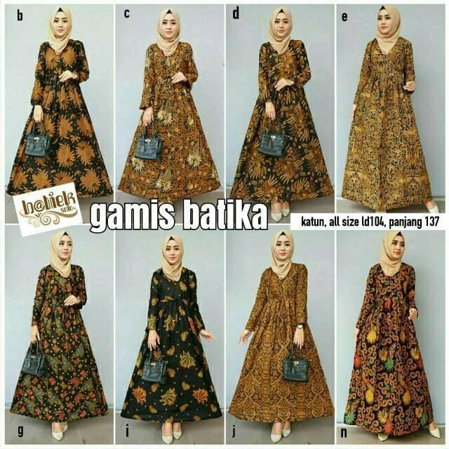 Jual Dress batik   batik sogan batika - Agen Batik Solo Termurah ... ffea32428d