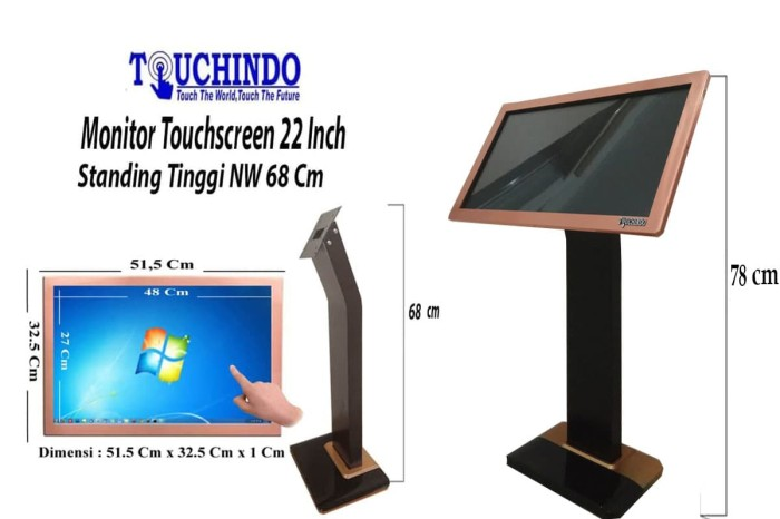 harga Monitor touchscreen  22 inch  rosegold nw touchindo Tokopedia.com