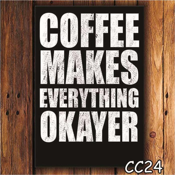 HIASAN DINDING POSTER KAYU Coffee DEKORASI RUMAH KAMAR DAPUR CAFE CC24