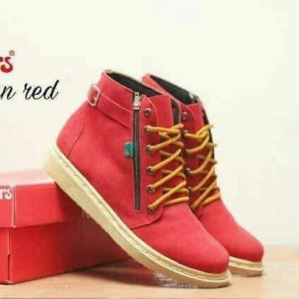 Jual Sepatu boots wanita termurah kickers femme Merah, 40 nazwa shoes | Tokopedia