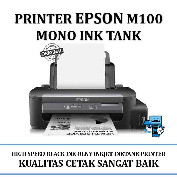 harga Printer epson m100 mono ink tank printer - black & white printer only Tokopedia.com