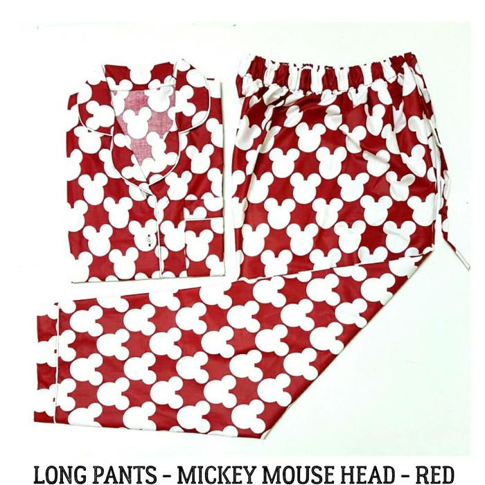 harga Piyama dewasa pria-head mickey mens long pants pajama-baju tidur cowok Tokopedia.com