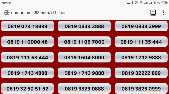 nomor cantik xl kartu perdana bebas nocan gsm murah axis xplor 3g 4g .