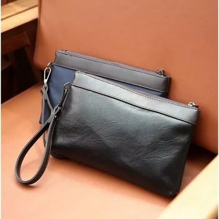Jual BASIC CLUCTH pria wanita hand bag kulit cowok cewek water proof ... 0142299c58